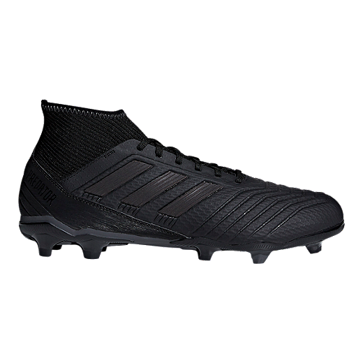 11b21fb51eb adidas Men s Predator 18.3 FG Outdoor Soccer Cleats - Black - CORE  BLACK CORE BLACK