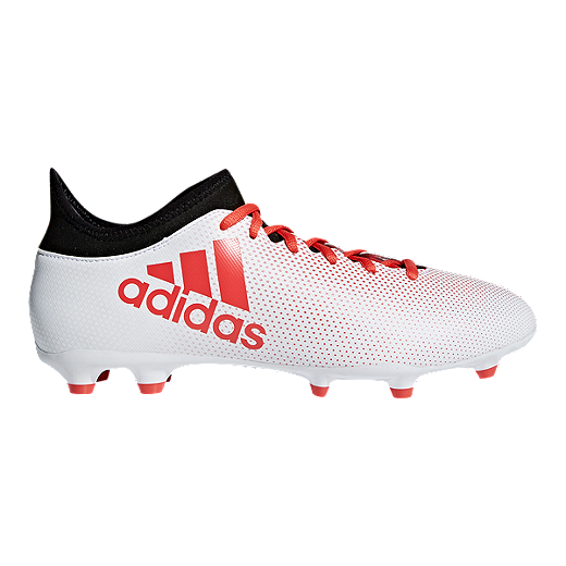 d3597ca65 adidas Men s X 17.3 FG Outdoor Soccer Cleats - White Coral Black - WHITE