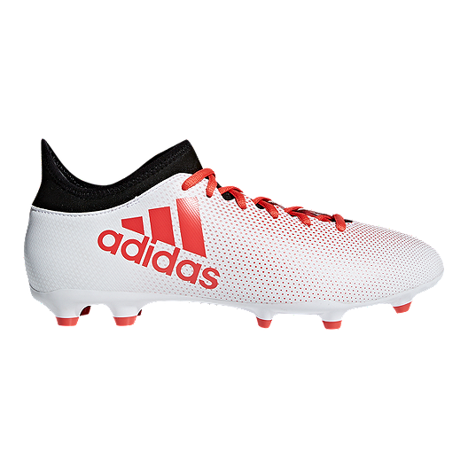 check out 300f2 91b8c adidas Men's X 17.3 FG Outdoor Soccer Cleats - White/Coral/Black