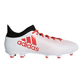 ac6fb8c0270 adidas Men s X 17.3 FG Outdoor Soccer Cleats - White Coral Black