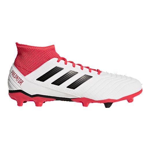 48ae8a589 adidas Men's Predator 18.3 FG Outdoor Soccer Cleats - White/Black - WHITE