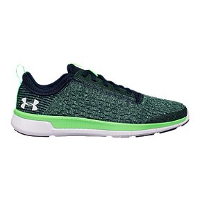 f84003f0838b Under Armour Kids  Lightning 2 Grade School Basketball Shoes - Green Navy