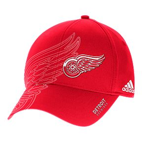Detroit Red Wings adidas Second Season Structured Flex Hat 0b77154e3