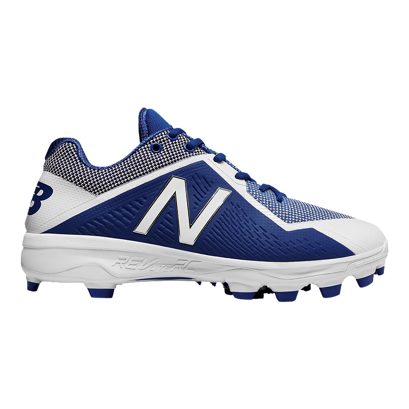 Low New Cut Baseball BlueWhite Width Men's 2E Wide Cleats Balance 4040v4 13JlcTFK