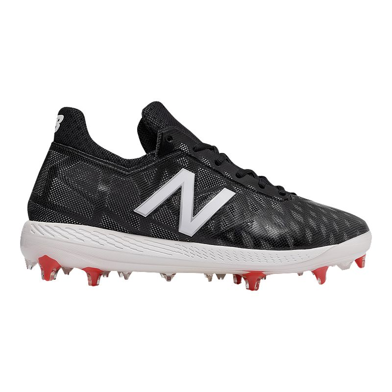 d083605ee New Balance Men s COMPv1 Mid Cut Baseball Cleats - Black White  (739655326950) photo