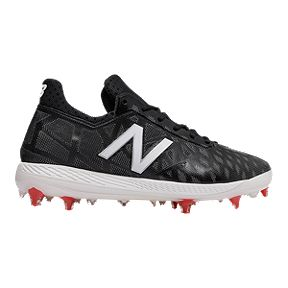 New Balance Men s COMPv1 Mid Cut Baseball Cleats - Black White cd4c3c788e9