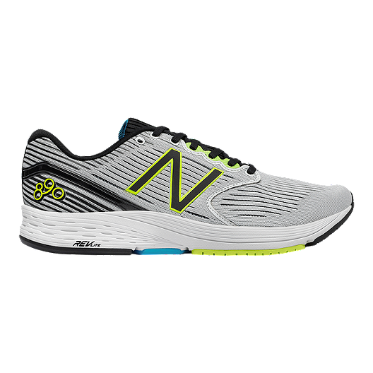 57bb9f1c765 New Balance Men s 890v6 2E Wide Width Running Shoes - White Black Yellow