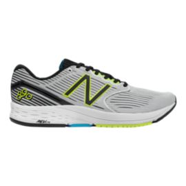 New Balance Men's 890v6 2E Wide Width Running Shoes - White/Black/Yellow