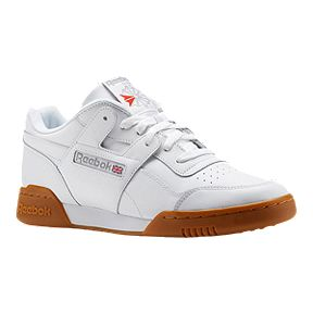 b93b1d3ea37b Reebok Men s Workout Plus Shoes - White Carbon Red Gum