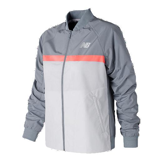 302cd9514 New Balance Women's Athletics '78 Jacket - LIGHT SLATE/WHITE/FIJI