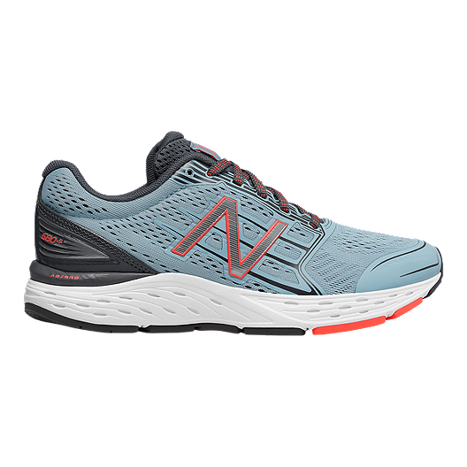 New Balance Women's 680v5 D Wide Width Running Shoes BlueGreyOrange
