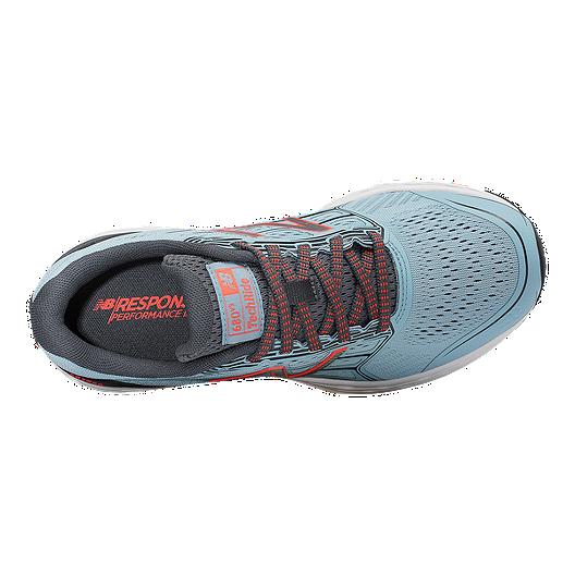 3df909ccb New Balance Women's 680v5 D Wide Width Running Shoes - Blue/Grey/Orange