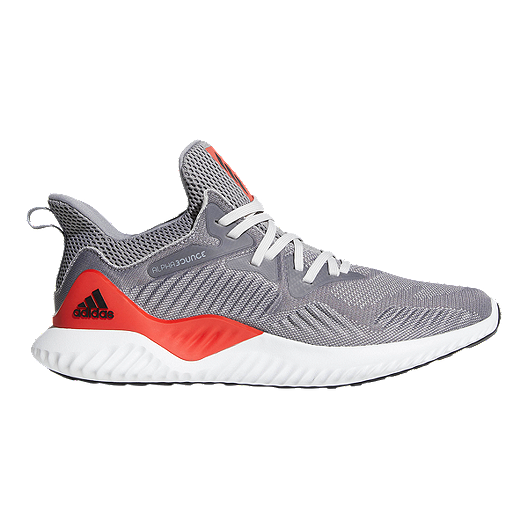 9b79a509c95b1 adidas Men s AlphaBounce Beyond Running Shoes - Grey Red