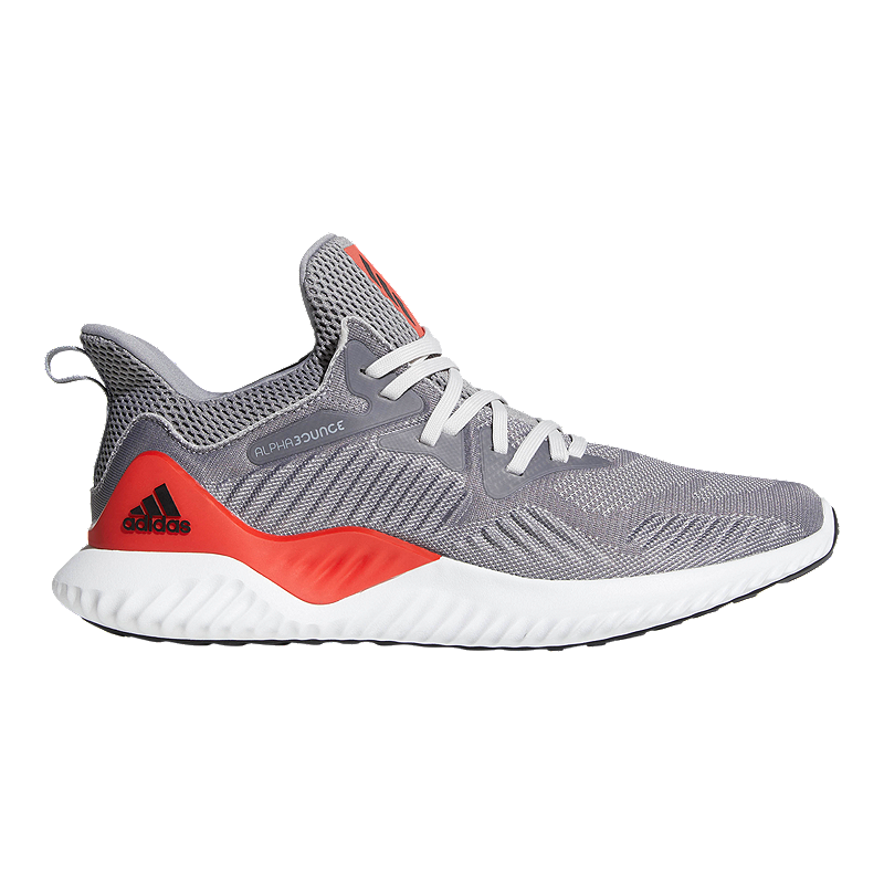 online store d4217 01a60 adidas Mens AlphaBounce Beyond Running Shoes - GreyRed  Spor