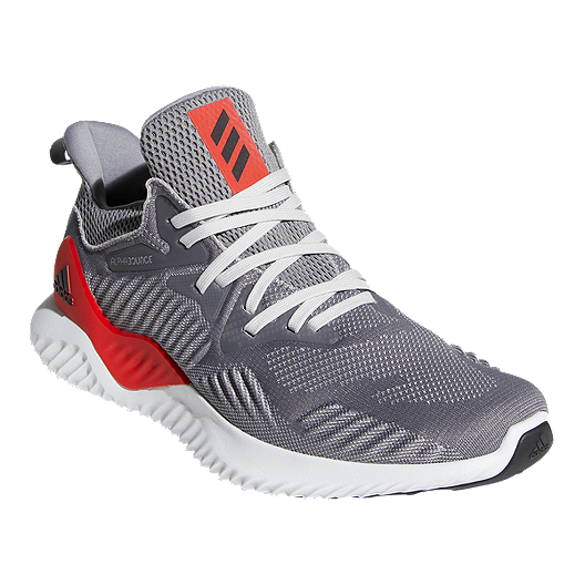 ef434777ca3fc adidas Men s AlphaBounce Beyond Running Shoes - Grey Red. (1). View  Description