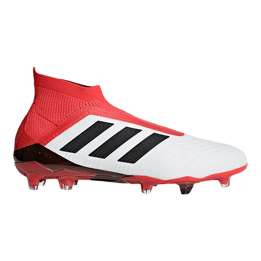 4cb600aad0f3 adidas Men's Predator 18+ FG Outdoor Soccer Cleats - White/Black/Coral -