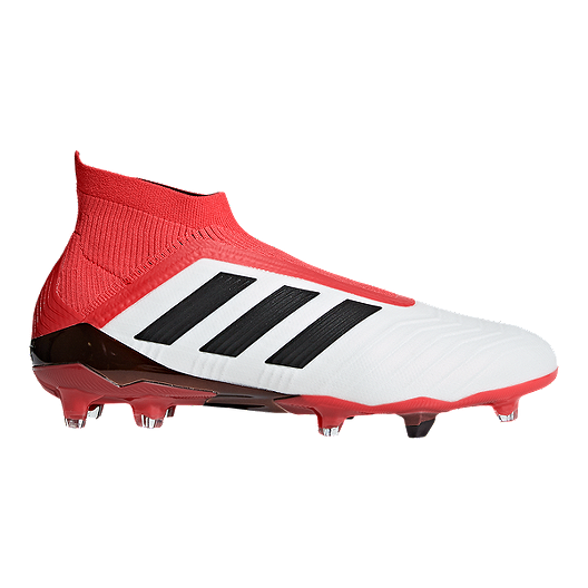 huge selection of 719ee 83d06 adidas Men s Predator 18+ FG Outdoor Soccer Cleats - White Black Coral    Sport Chek