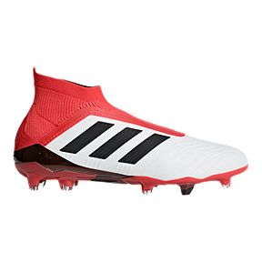 482dd5ca5d81 adidas Men's Predator 18+ FG Outdoor Soccer Cleats - White/Black/Coral