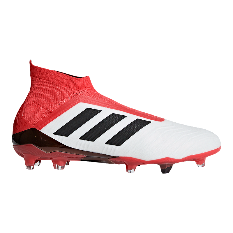 8bd392c0d23c70 adidas Men s Predator 18+ FG Outdoor Soccer Cleats - White Black Coral