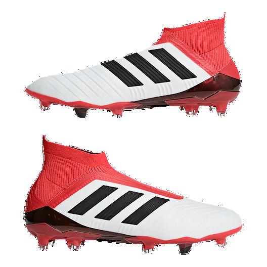 adidas Men s Predator 18+ FG Outdoor Soccer Cleats - White Black ... bdea3e9f8