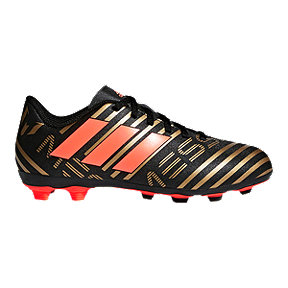 adidas Kids' Nemeziz Messi 17.4 FG Outdoor Soccer Cleats - Black