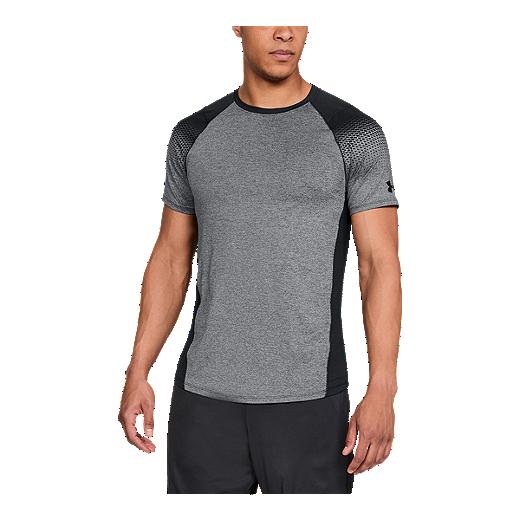 758d30565 Under Armour Men's MK1 Dash Print Training T Shirt - BLACK LIGHT HEATHER/ BLACK