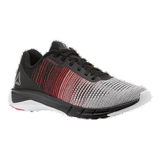huge selection of b50bc 870d8 Reebok Men s Fast Flexweave Running Shoes - Black Grey White   Sport Chek