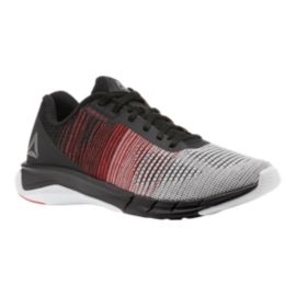 Reebok Men's Fast Flexweave Running Shoes - Black/Grey/White