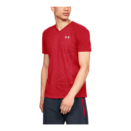 2139a9496c1 Under Armour Men s Threadborne Swyft V-Neck Running T Shirt