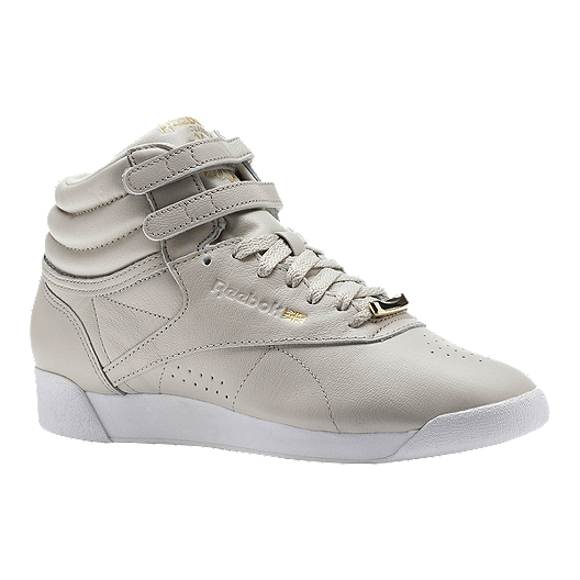 2040bb77f18 Reebok Women s Freestyle Hi Shoes - Muted Sandstone White