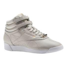 Reebok Women's Freestyle Hi Shoes - Muted Sandstone/White