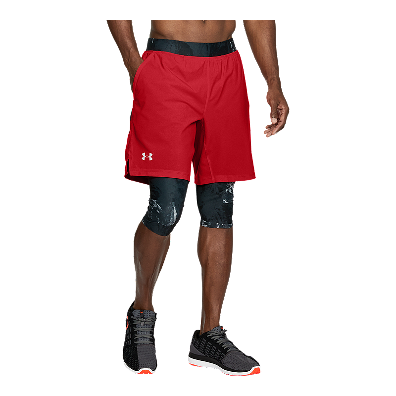 1472992b6290f Under Armour Men s Launch Long 2 In 1 Shorts