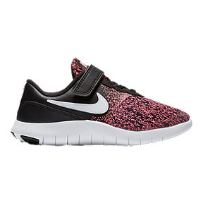 Nike Girls' Flex Contact Alternative Closure Preschool Shoes - Black/Pink