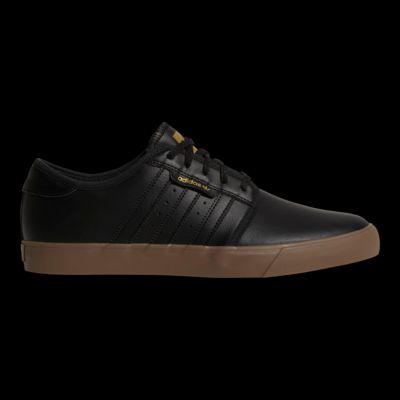 Adidas hombre 's' Seeley cuero skate zapatos negro / Gold / goma Sport Chek