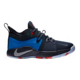 Nike Kids' Paul George 2 Grade School Basketball Shoes - Navy/Green