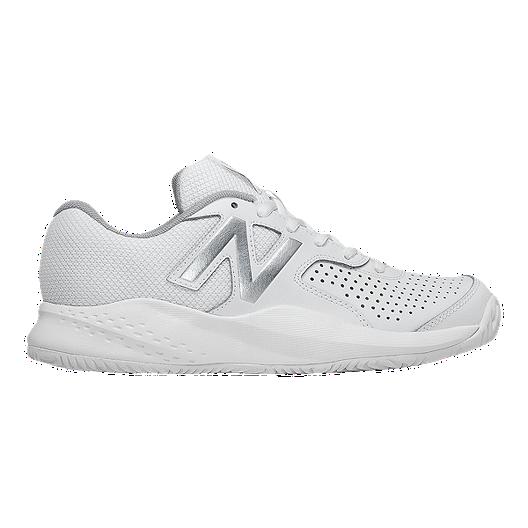 new concept f06ce f0c43 New Balance Women's 696v3 Tennis Shoes - White/Black