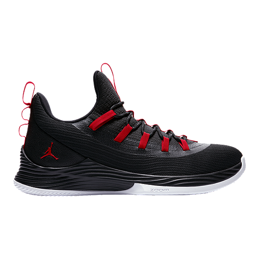 fe3ffe1a2e319 Nike Men s Jordan Ultra Fly 2 Low Basketball Shoes - Black Red White ...