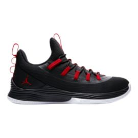 Nike Men's Jordan Ultra Fly 2 Low Basketball Shoes - Black/Red/White
