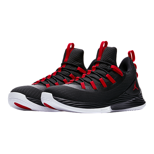 ce4bcef23dd37 Nike Men s Jordan Ultra Fly 2 Low Basketball Shoes - Black Red White. (0).  View Description