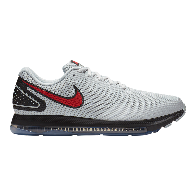 add0fc82712 Nike Men s Zoom All Out Low 2 Running Shoes - Grey Black Red