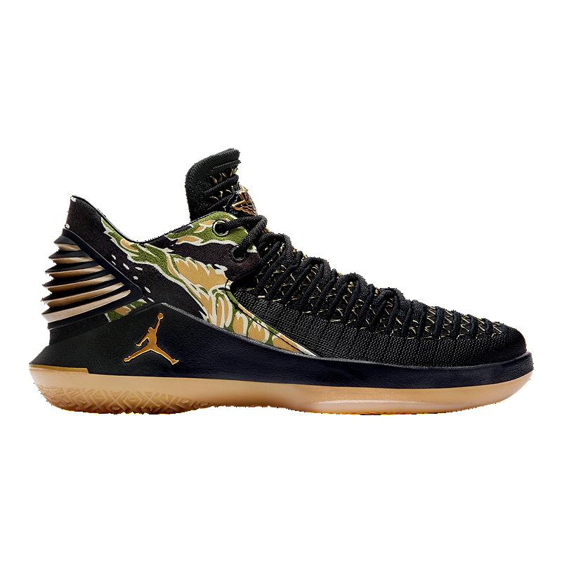 e0ea1d6c8ef3 Nike Air Jordan Kids  Ghost Low Grade School Basketball Shoes - Black Gold  White