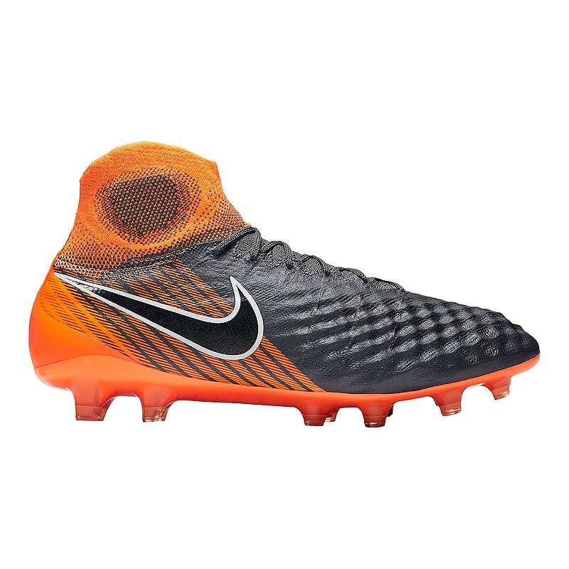 5209a4577 Nike Men s Magista Obra 2 Elite Dynamic Fit FG Outdoor Soccer Cleats - Dark  Grey Orange