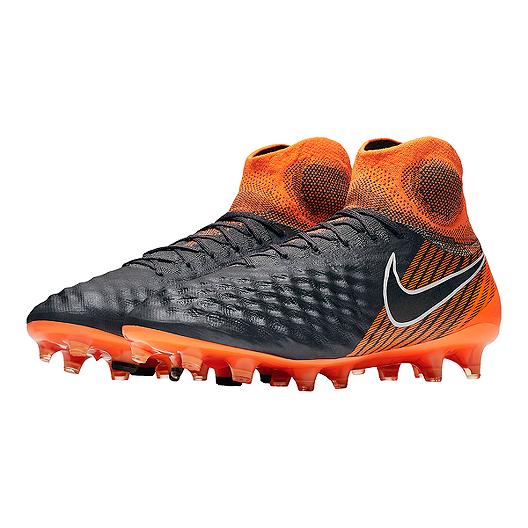 a767a54af Nike Men s Magista Obra 2 Elite Dynamic Fit FG Outdoor Soccer Cleats - Dark  Grey Orange. (1). View Description