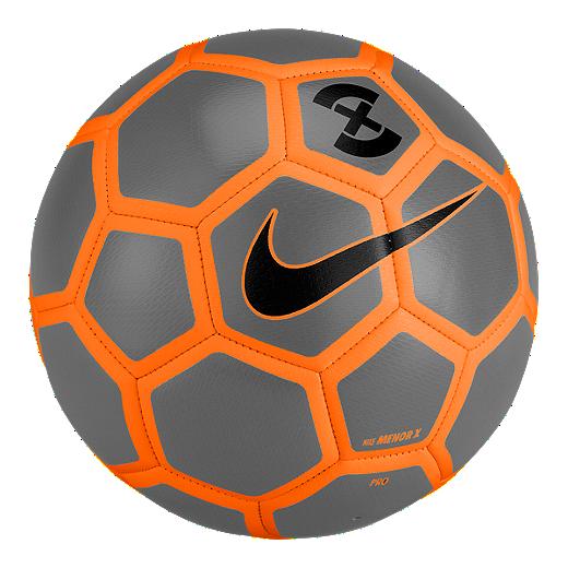dfab25dec Nike Menor X Size 5 Soccer Ball - Wolf Grey Total Orange