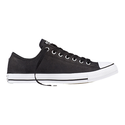 b10d3ea201c8 Converse Men s Chuck Taylor All Star OX Leather Shoes - Black White ...