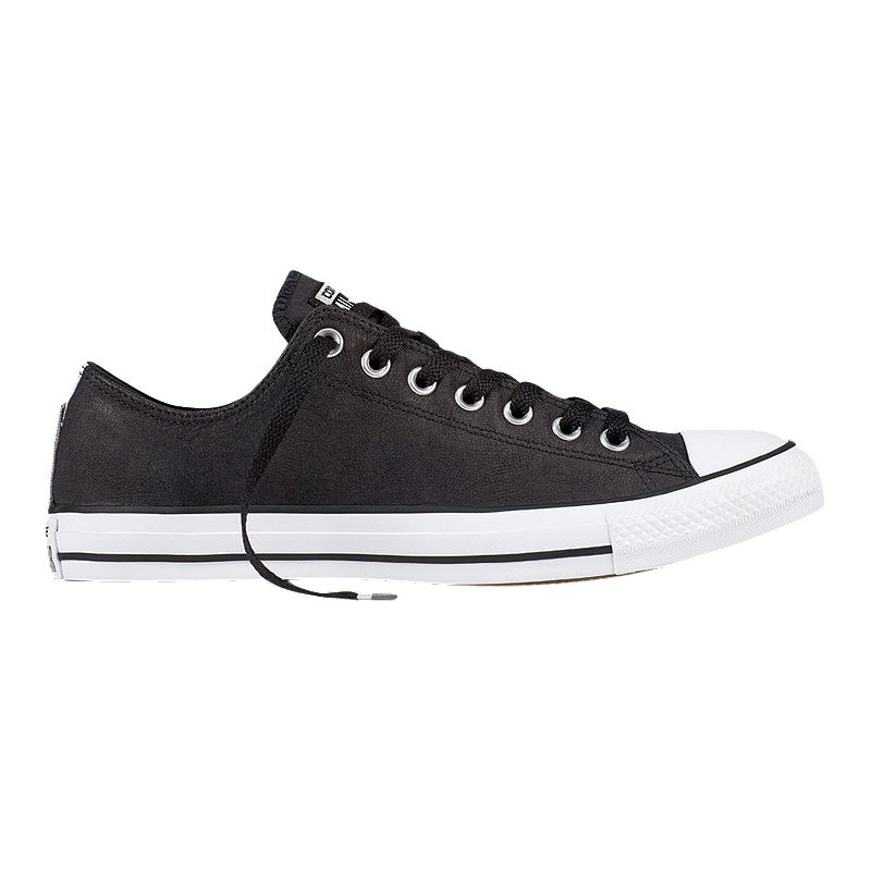 Converse Men's Chuck Taylor All Star OX Leather Shoes - Black/White (888755192818)