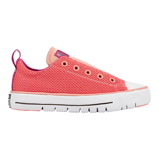 b2ffa111 Converse Girls' Chuck Taylor All Star Hyper Light Shoes - Pink/White