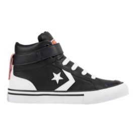 Converse Kids' Pro Blaze HI Leather Skate Shoes - Black