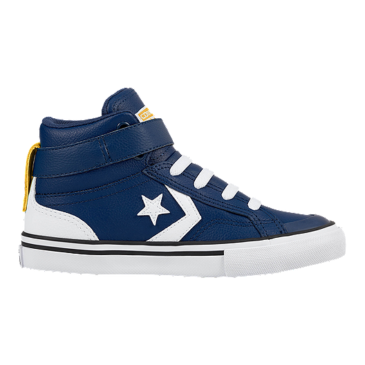 d6b8f43930ace1 Converse Kids  Pro Blaze HI Leather Skate Shoes - Royal Blue