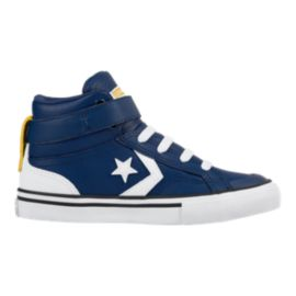 Converse Kids' Pro Blaze HI Leather Skate Shoes - Royal Blue